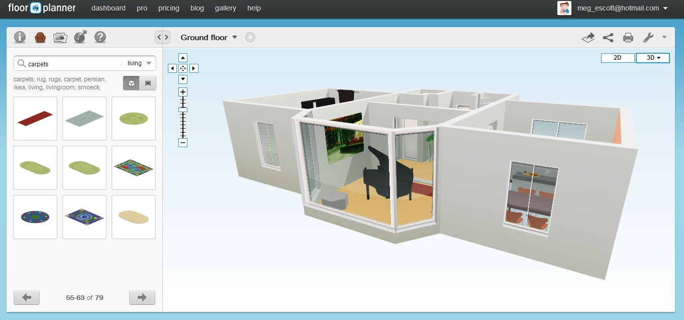 Floor planner 3d online for Interactive floor plan software