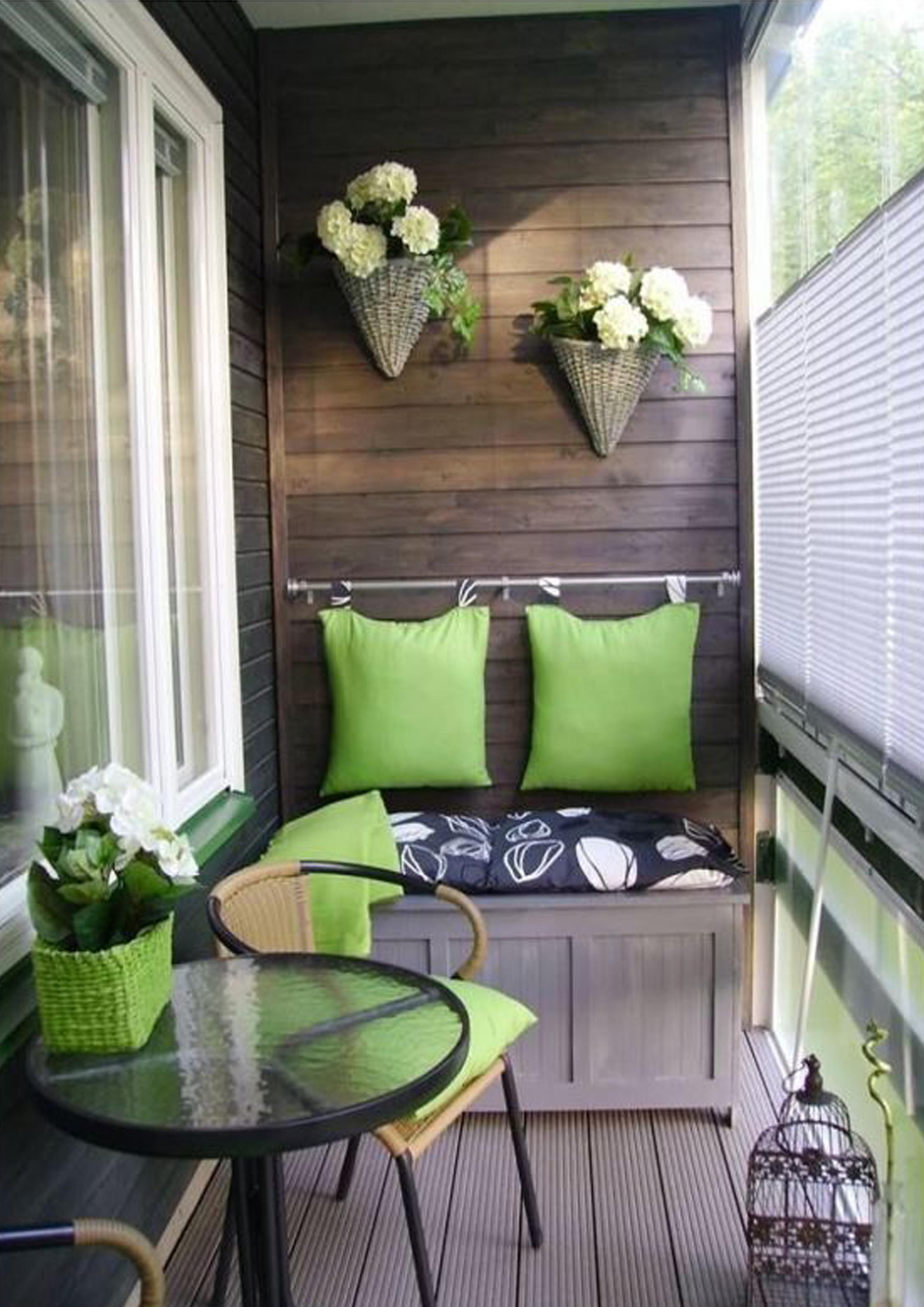 Стильный балкон дизайн.