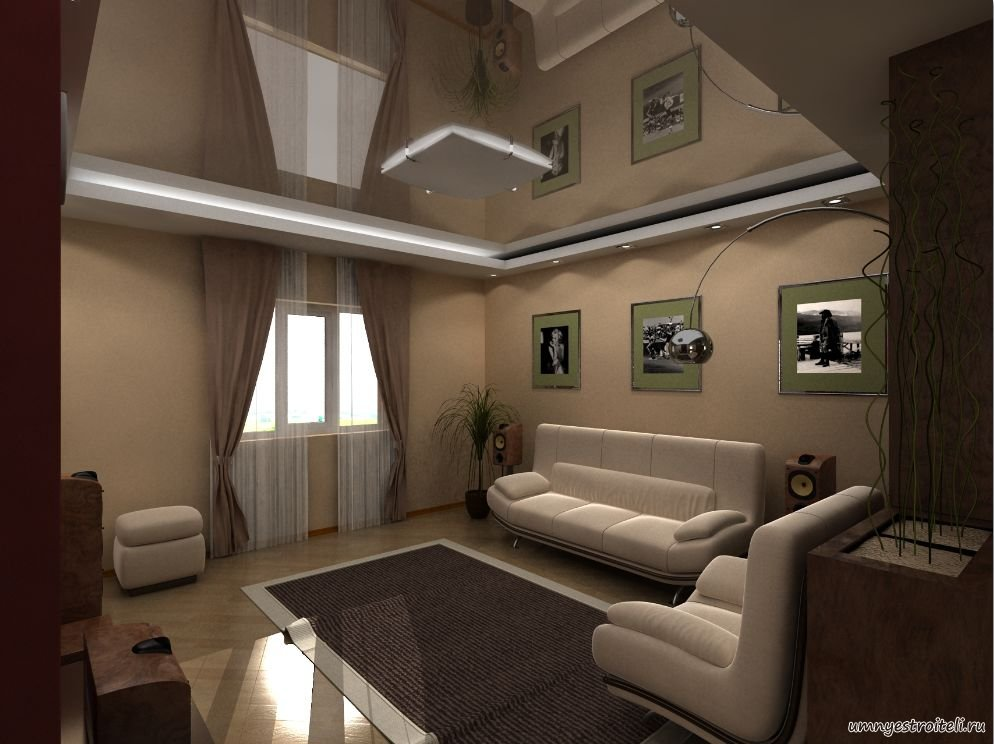 Дизайн комнаты зал