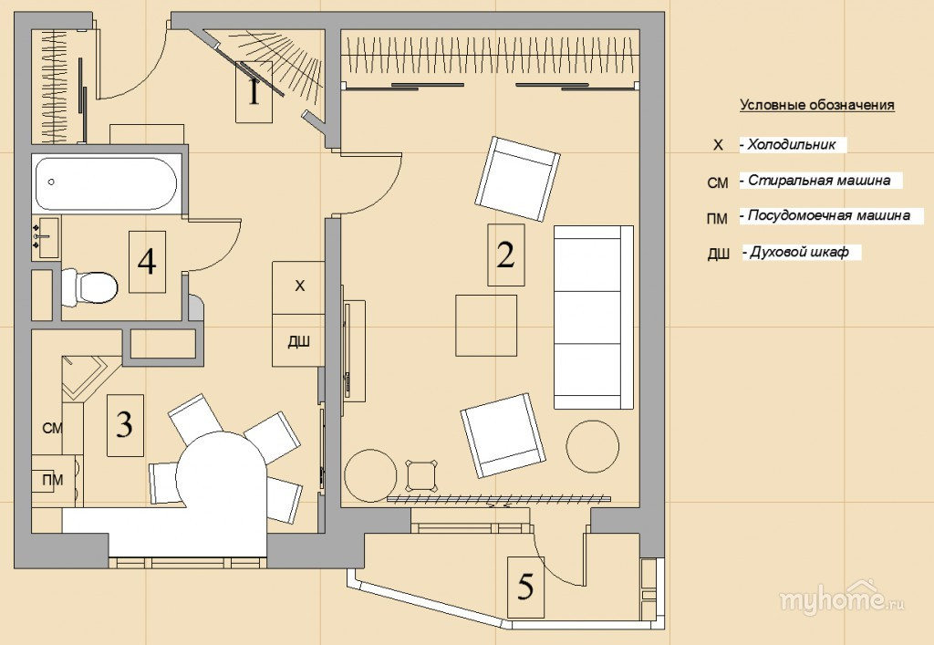 "План однокомнатной квартиры п-44т "" картинки и фотографии ди."