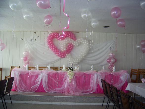 Украшение зала своими руками на свадьбу шарами фото
