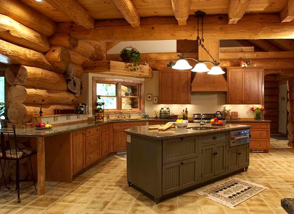 интерьер кухни деревянном доме картинки и фотографии дизайна