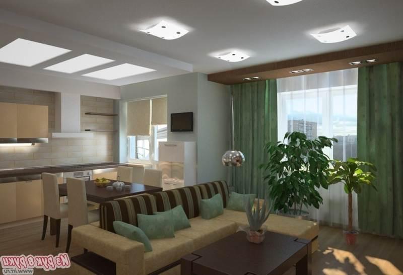 """Дизайн квартиры кухня совмещенная с залом """" картинки и фотог."""