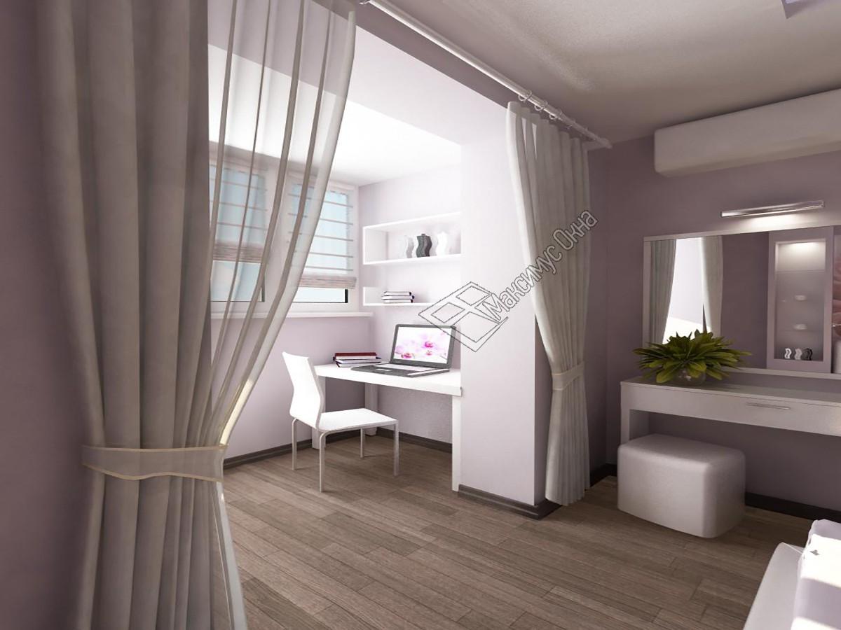 """Интерьер зала совмещенного с балконом """" картинки и фотографи."""