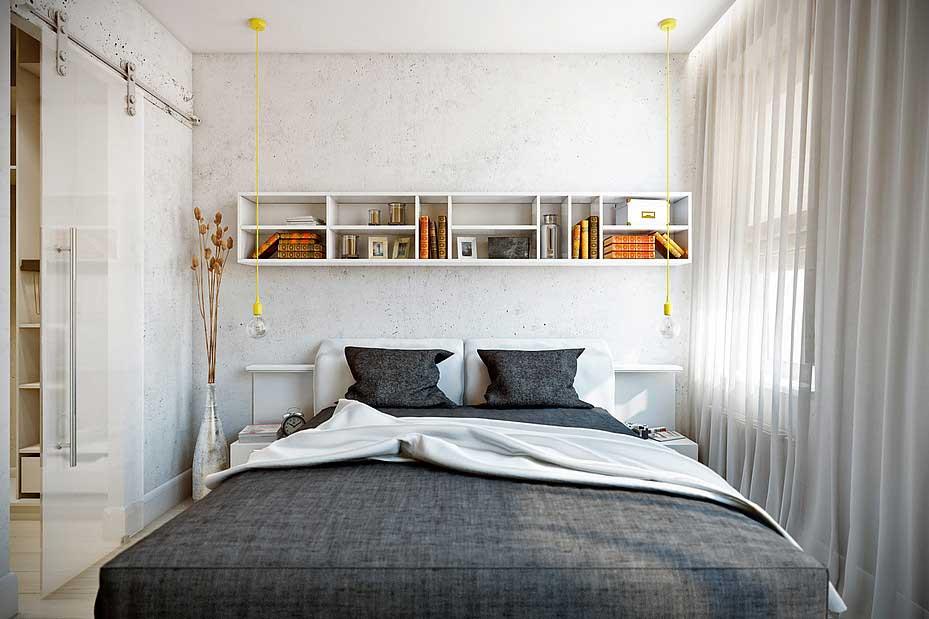 спальня 9 кв метров дизайн фото