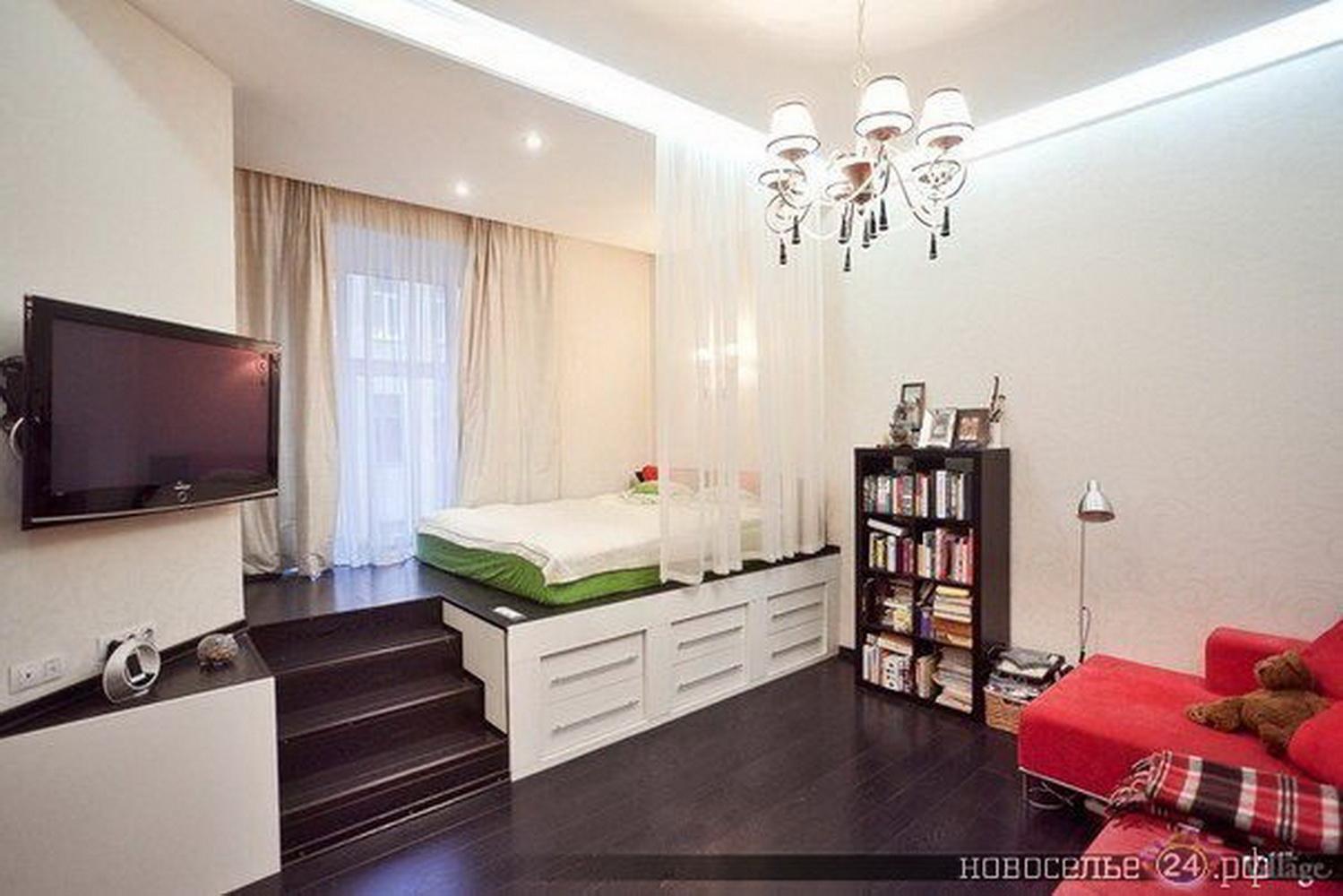 Идея для однокомнатной квартиры всё что нравится постила.