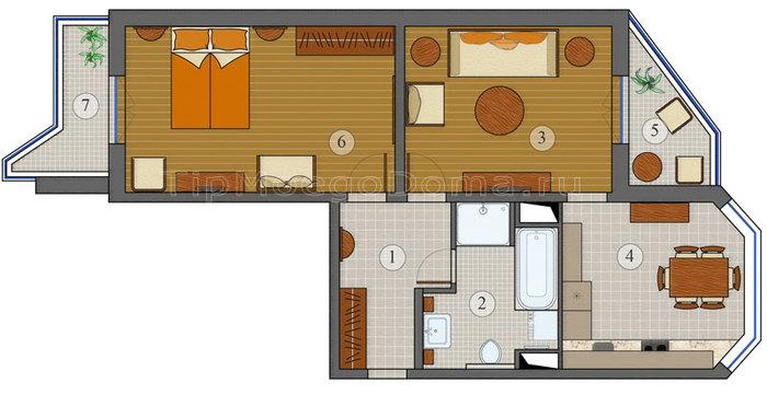Дом п 47 лоджия сколько метров.