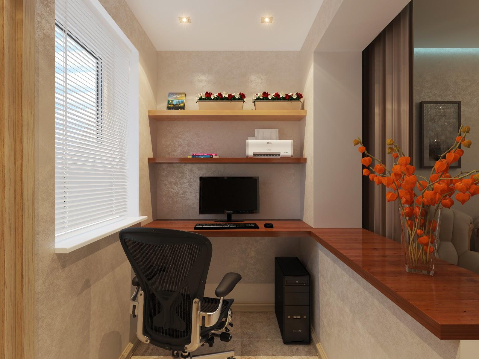 """Дизайн маленькой комнаты с балконом """" картинки и фотографии ."""