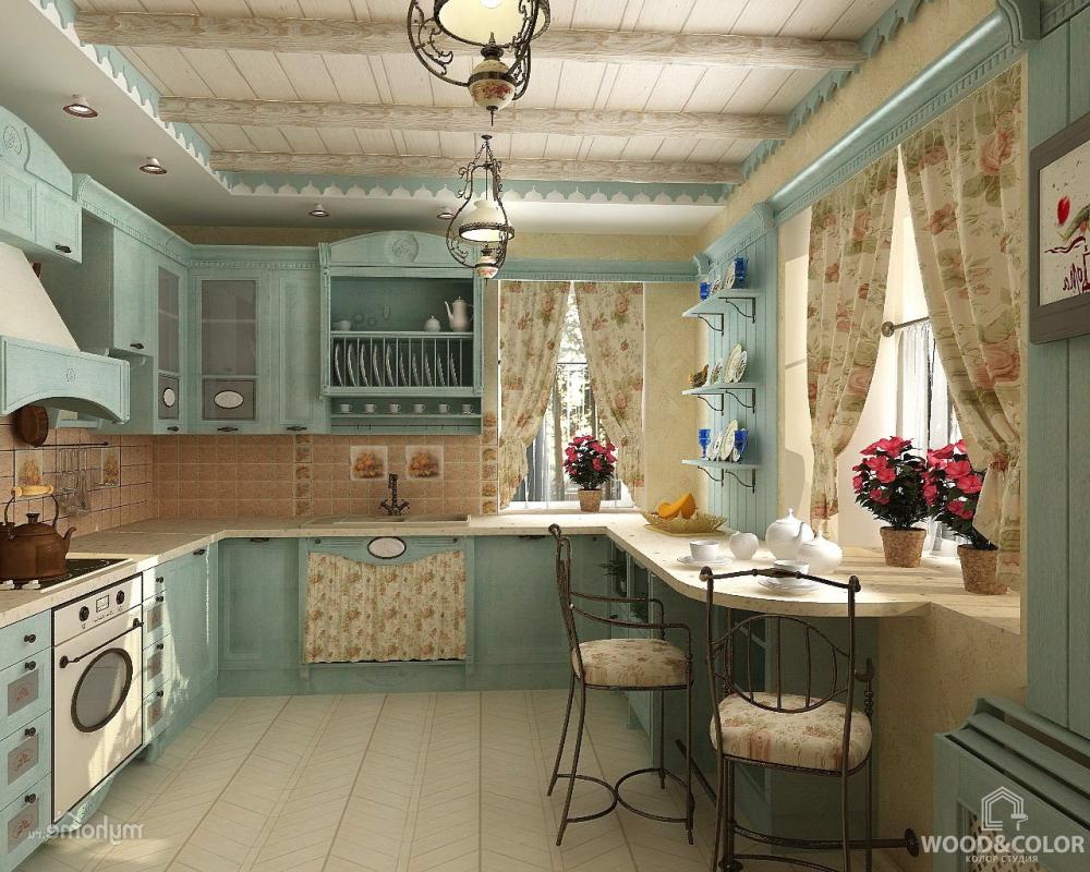 дизайн интерьера кухни стиль прованс картинки и фотографии дизайна