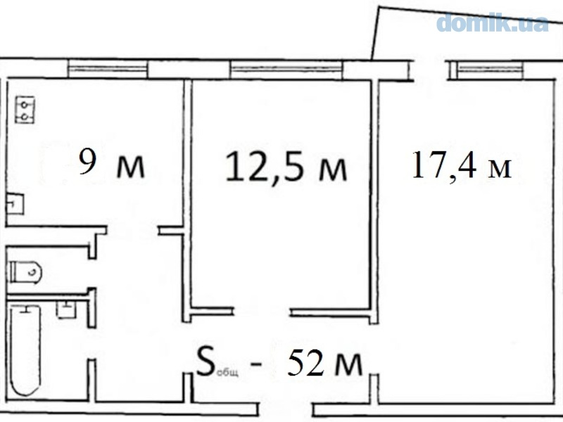 Продам 2-комнатную квартиру в г.Черкаси, р-н миллениума , Че.