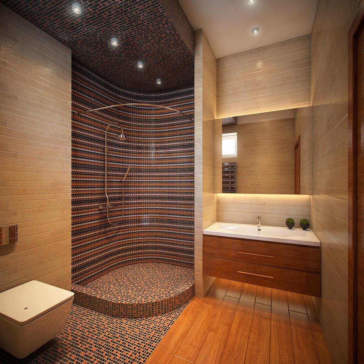 Туалет с душевой кабиной фото дизайн