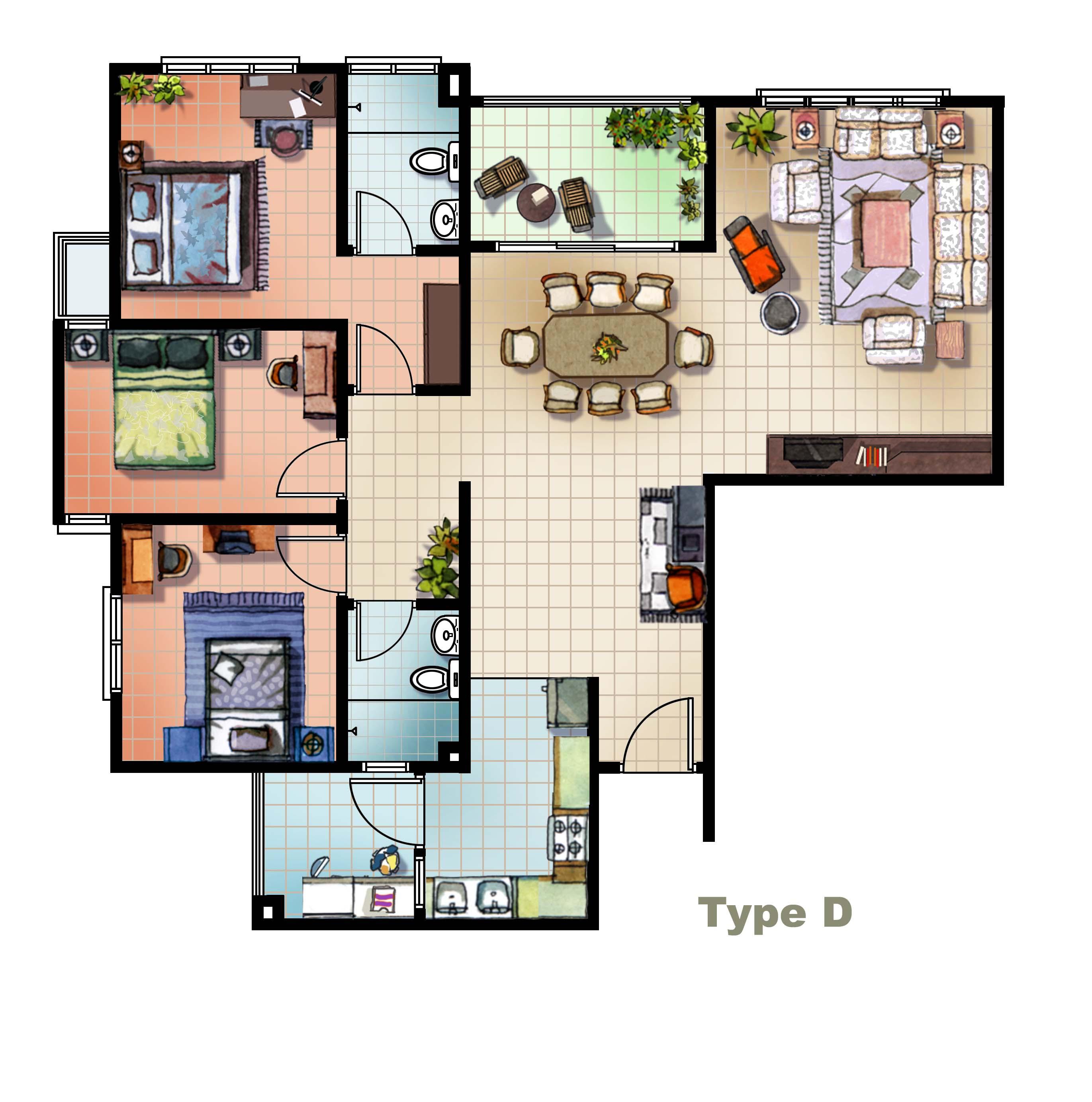 Floor plans 3d and interior design online free for 3d floor plan online free
