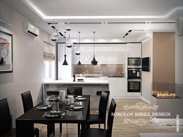 дизайн интерьера гостиной в стиле модерн фото картинки и