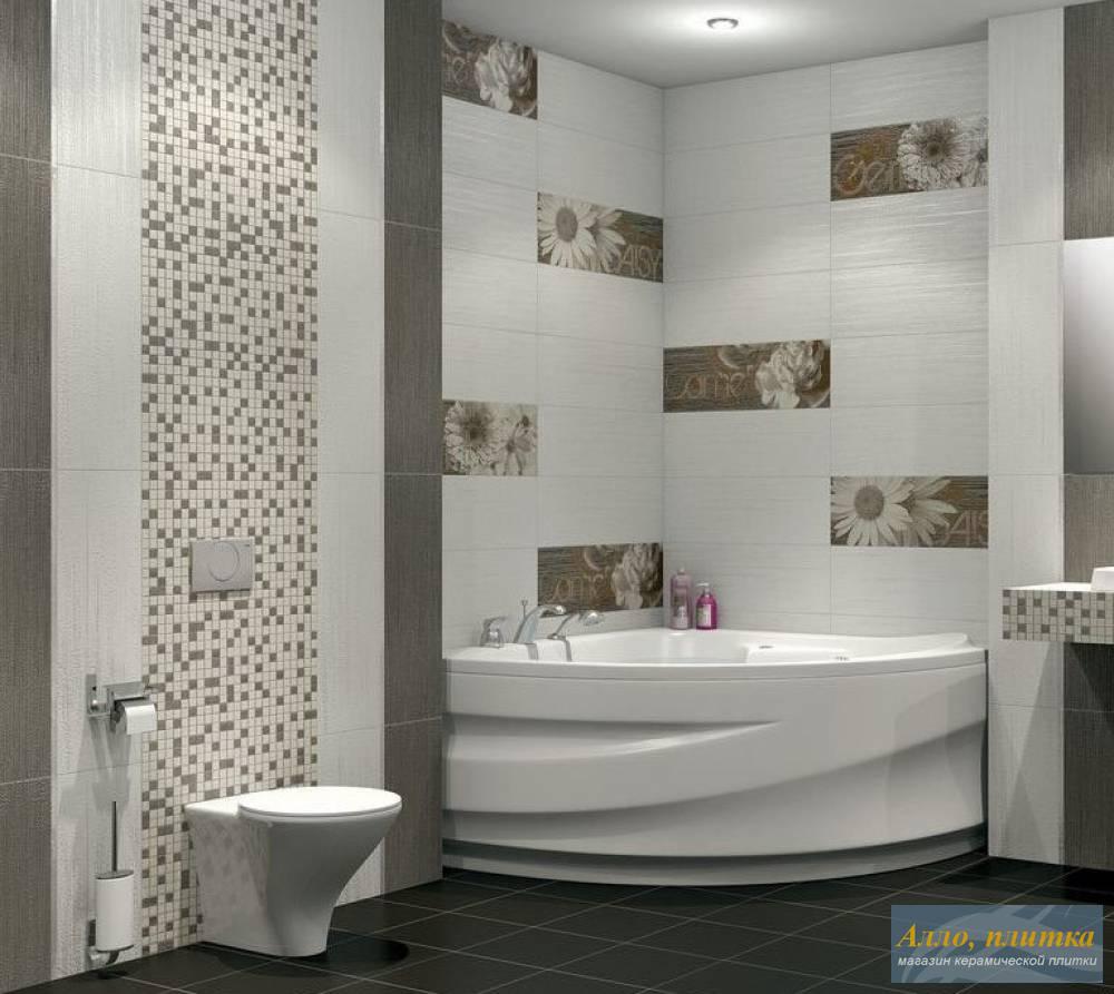 Дизайн кафельной плитки в ванной: Плитка для ванных комнат фото » Картинки и фотографии