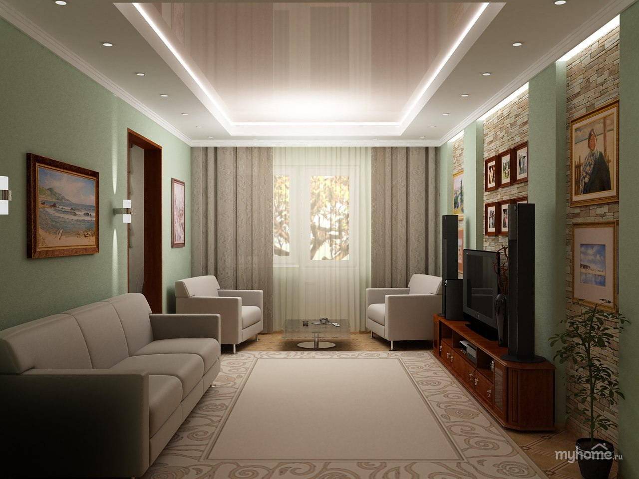 Гостиная комната в хрущевке дизайн фото kakoiremont.ru.