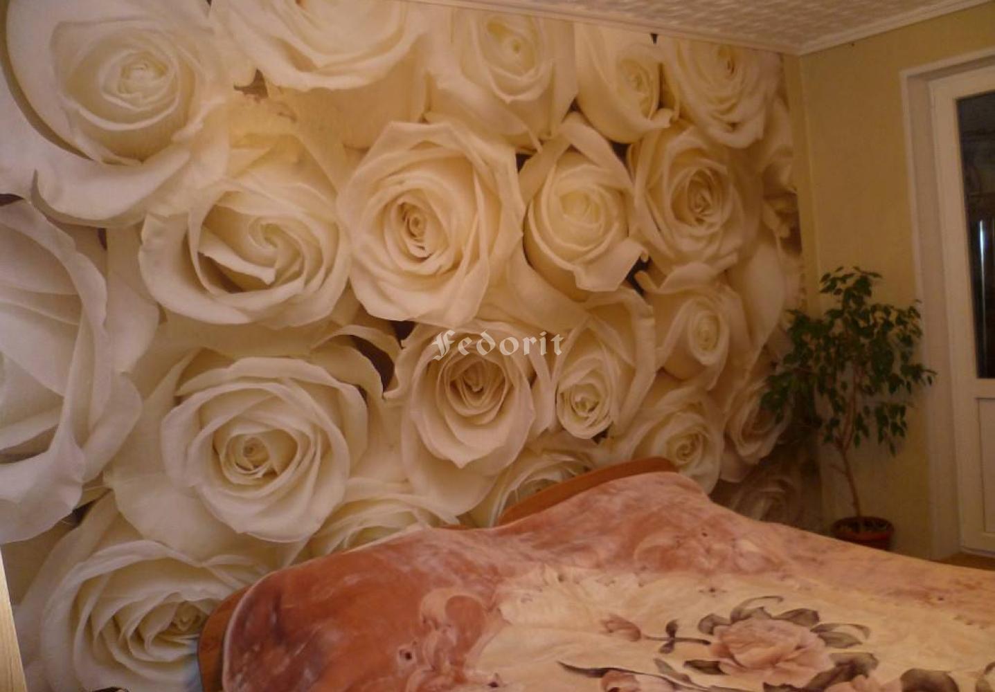 Фотообои 3д розы для стен