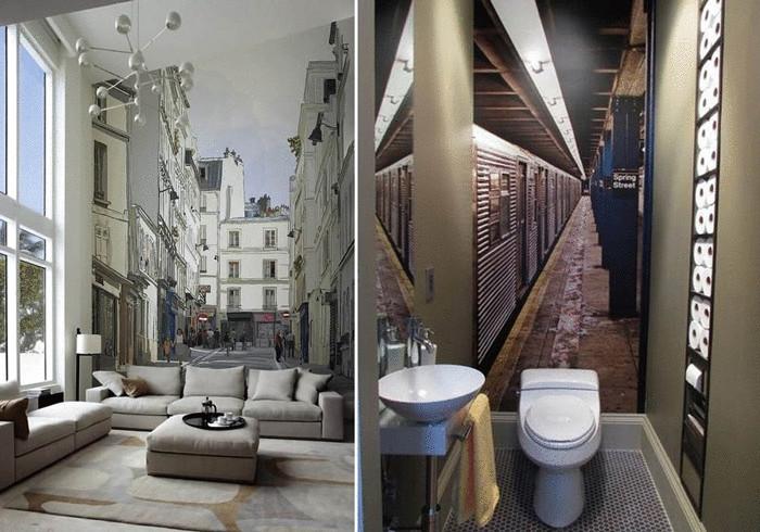 Какие обои визуально увеличивают комнату с фото
