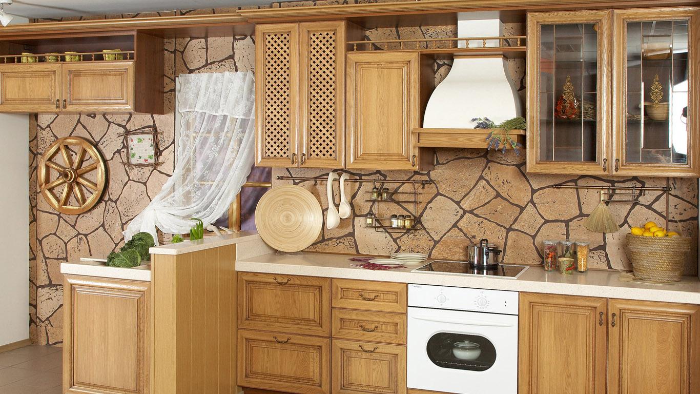 """Интерьер кухни под дерево фото """" картинки и фотографии дизай."""