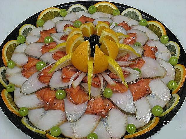 красивое оформление блюд на праздничном столе сочетания высокого