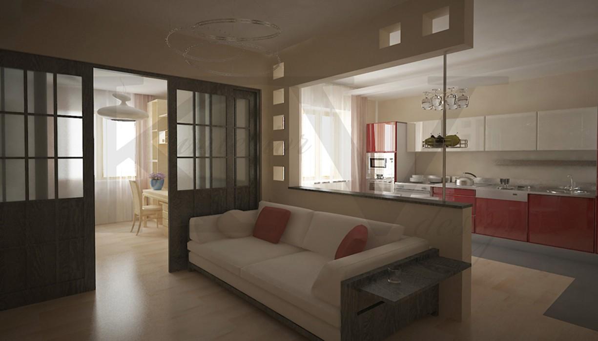 Дизайн квартиры 60 кв.м. дизайн проект квартиры площадью 60 .