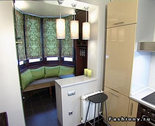 """Дизайн маленькой кухни с балконом """" картинки и фотографии ди."""