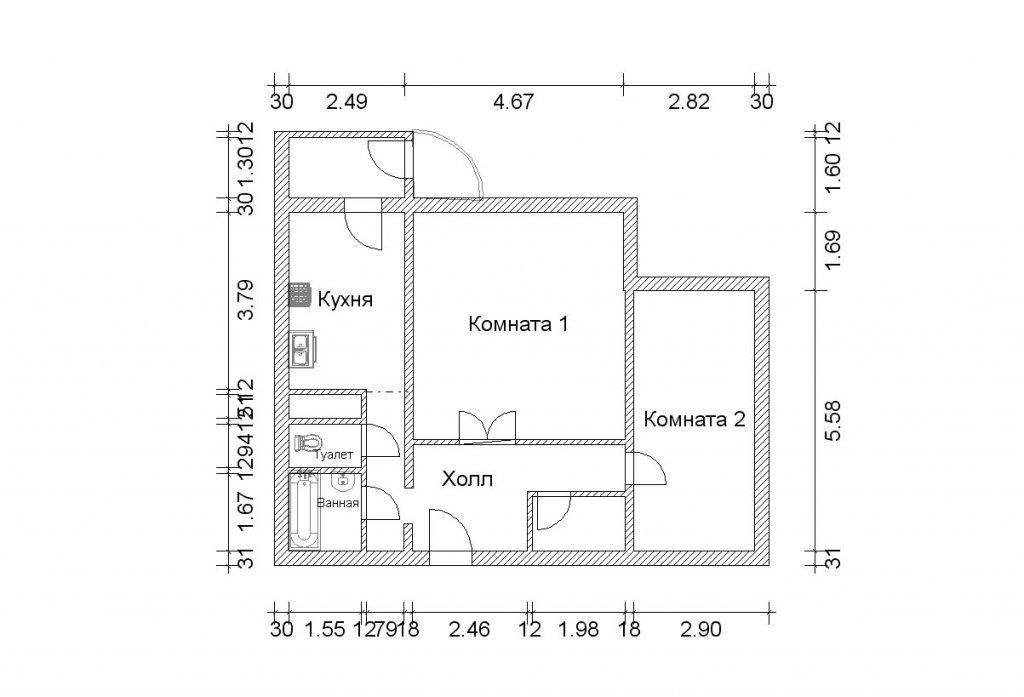5-я двухкомнатная квартира п-111м - двухкомнатные квартиры п.