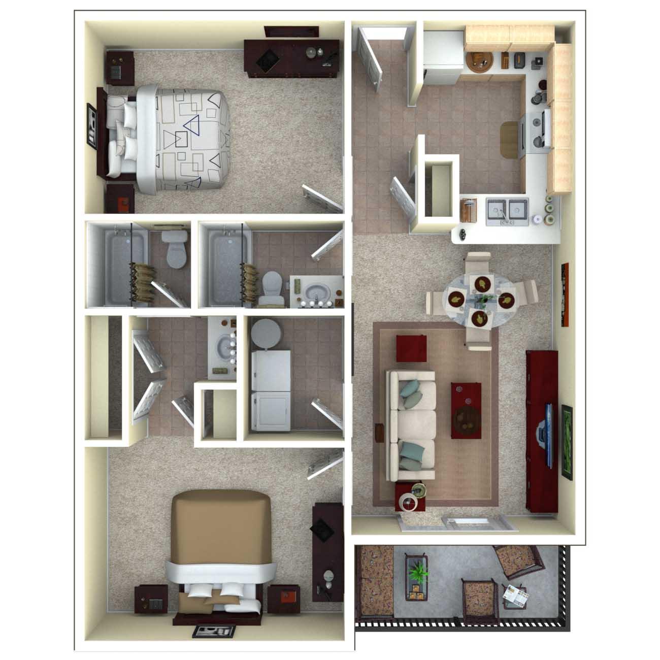 Floor plan 3d free online for Look 4 design