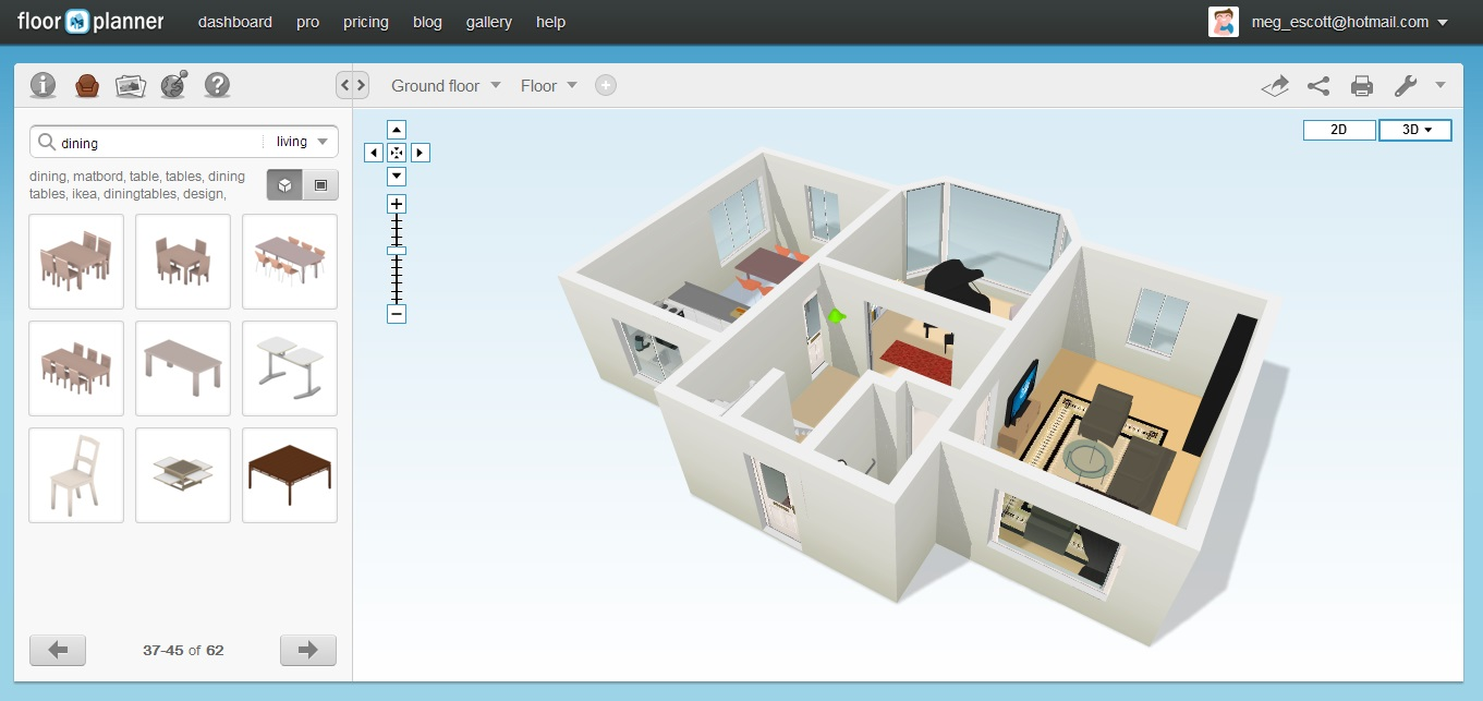 Floor plan 3d free online for Online floor