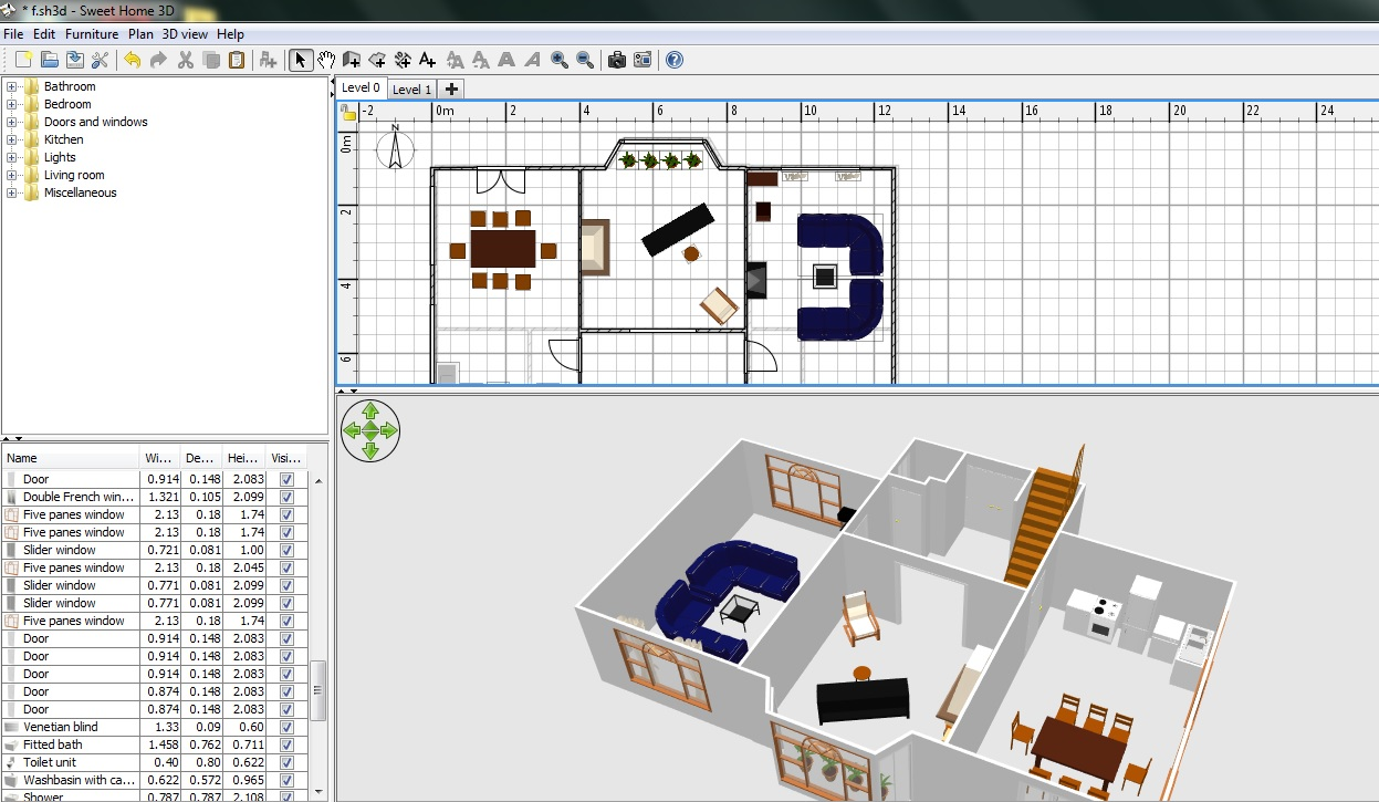 Floor plan 3d free online for Floor plan free online