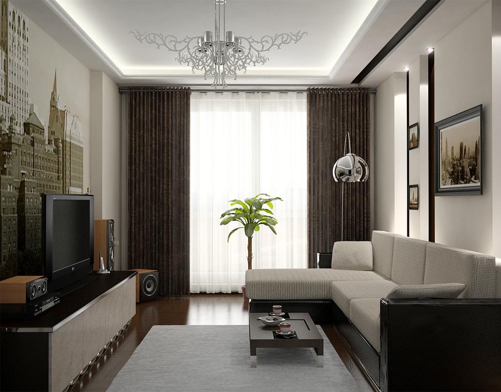 Дизайн зала небольшого