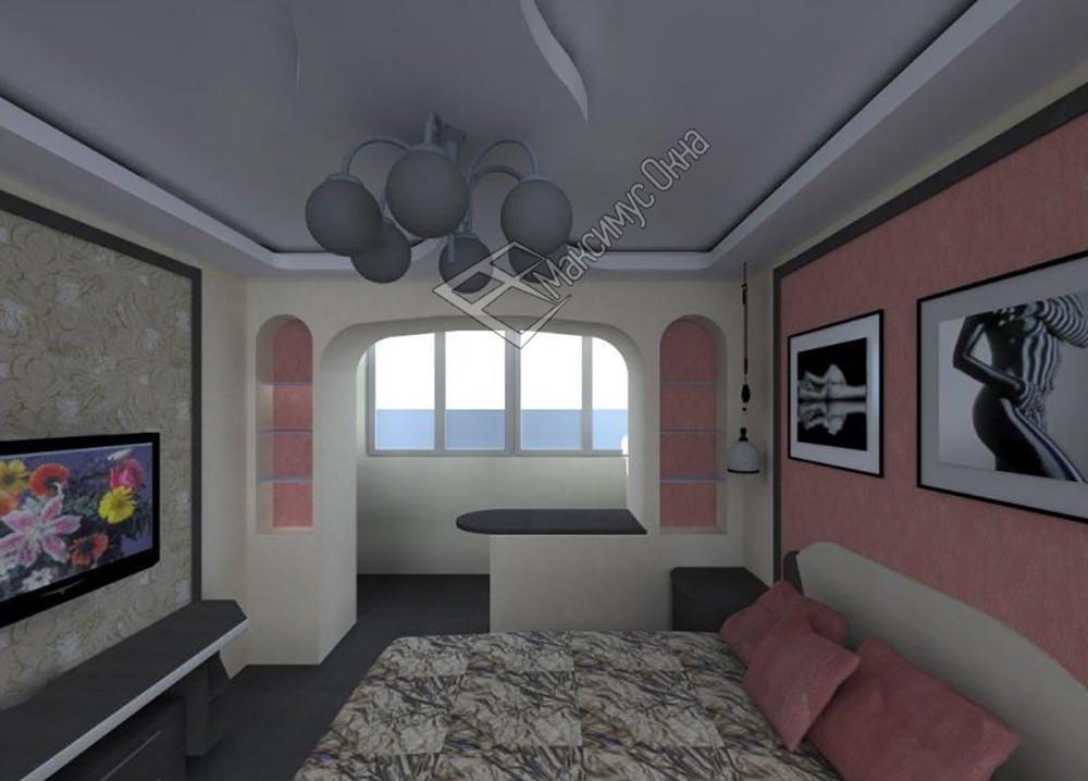 """Дизайн зала с выходом на балкон """" картинки и фотографии диза."""