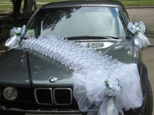 Как сделать украшение свадебных машин фото 455