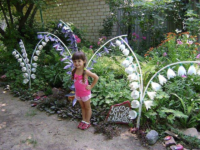 новое в украшении сада своими руками