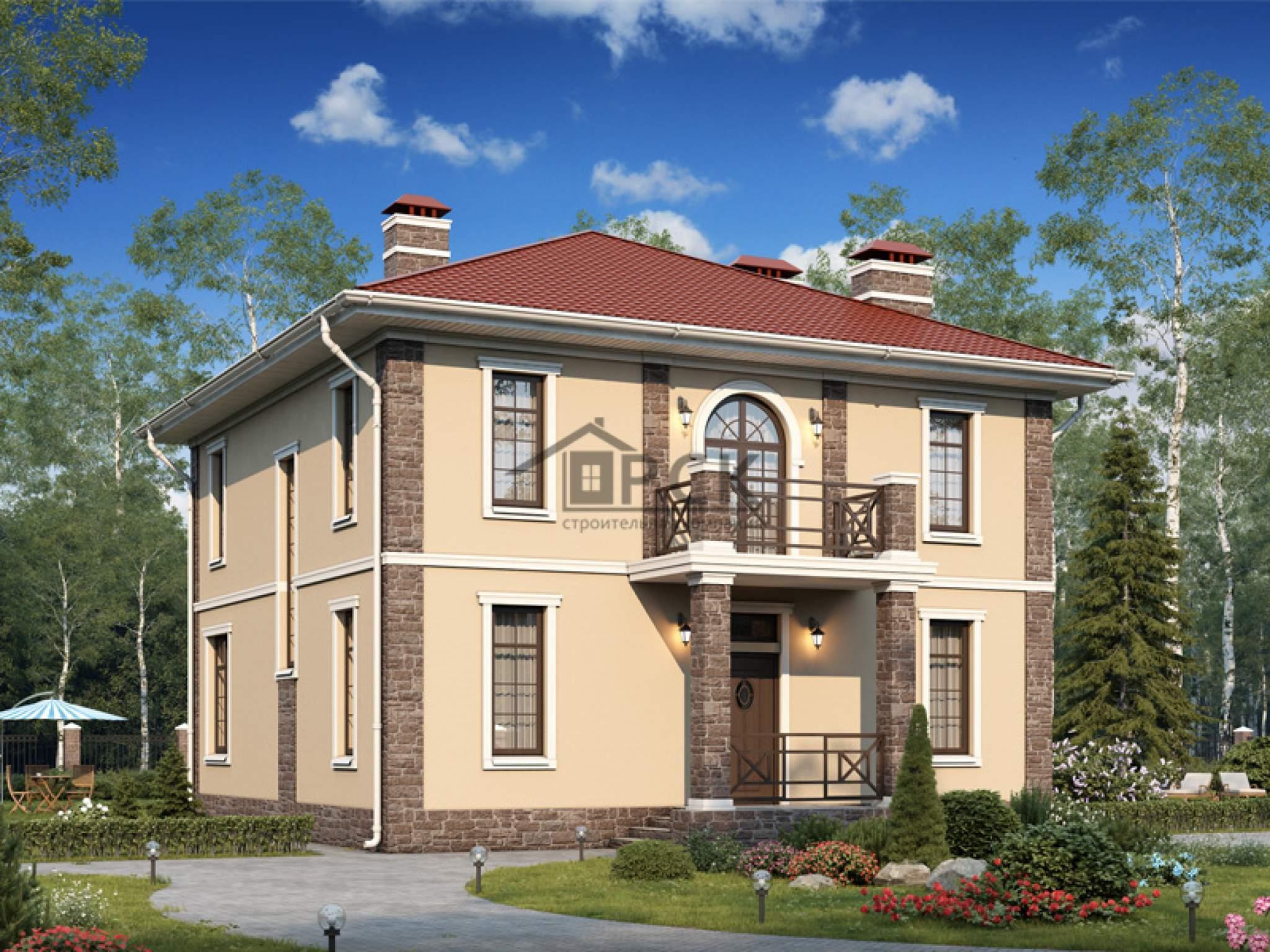 """Типовые проекты кирпичных двухэтажных домов """" картинки и фот."""