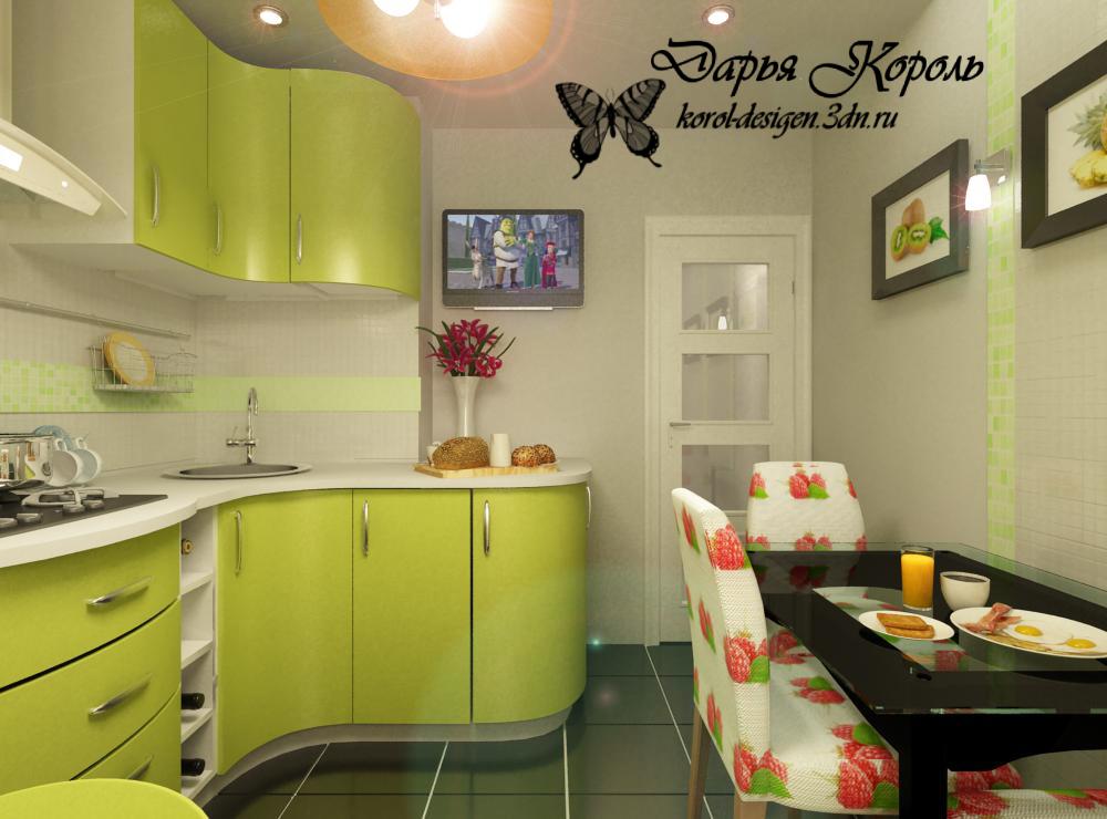 """Дизайнерский проект маленькой кухни """" картинки и фотографии ."""