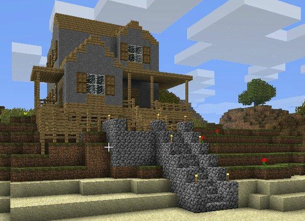 Красивые дома в майнкрафте схемы постройки поэтапно.