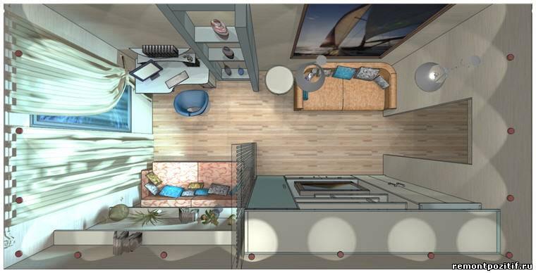 спальня и гостиная в одной комнате 17 кв м фото