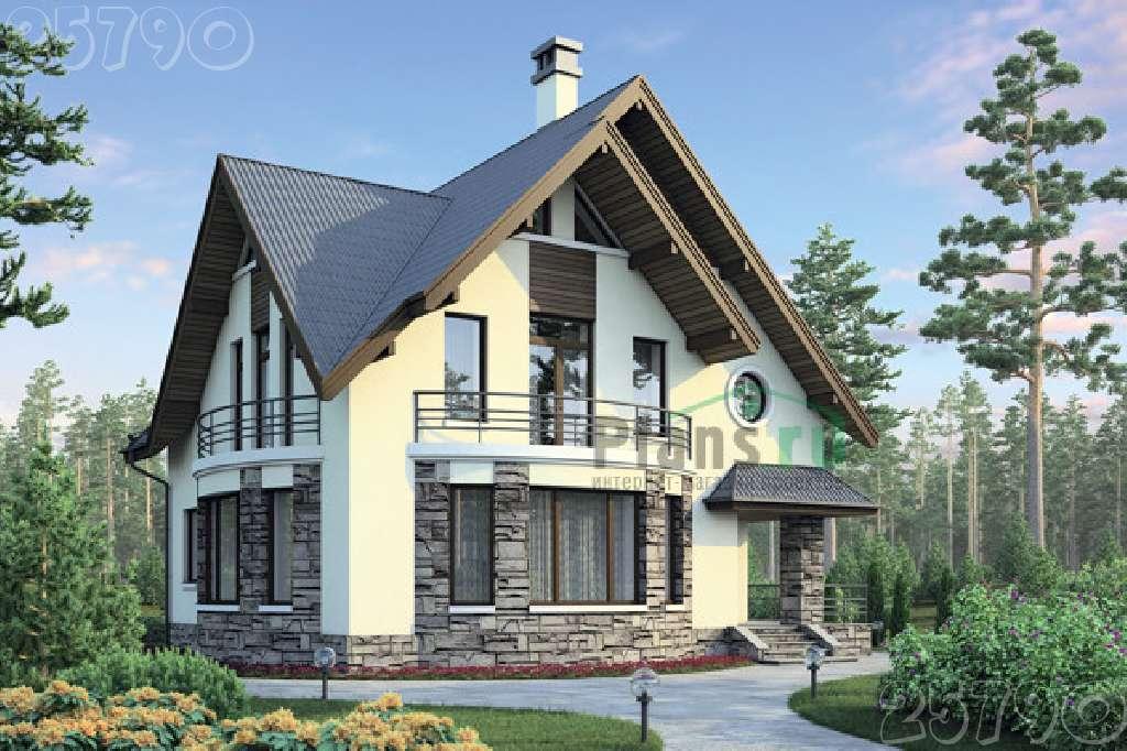 Проекты домов с мансардой компания коттедж 68.
