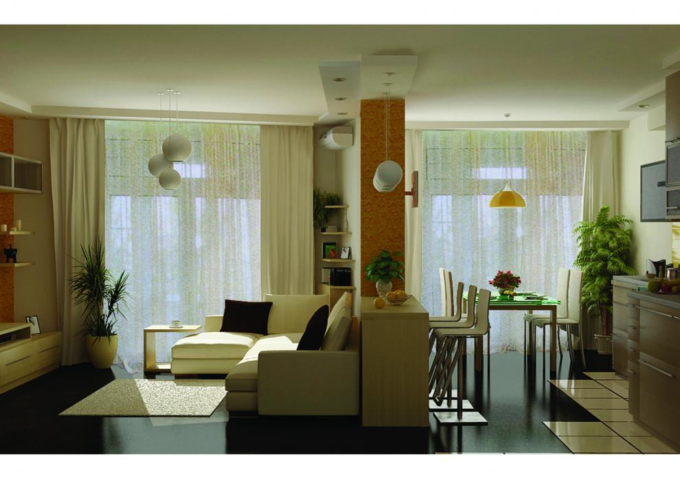 Дизайн зала в маленькой квартире: минимализм, авангард, клас.