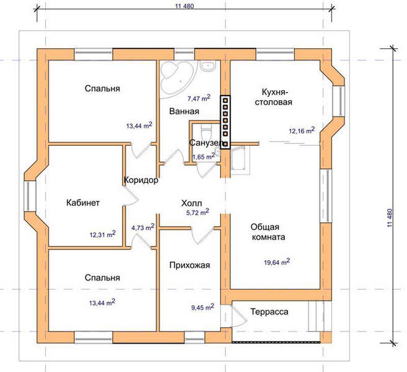 одноэтажное строительство проекты домов 9на12 схемы наш, поздравляем