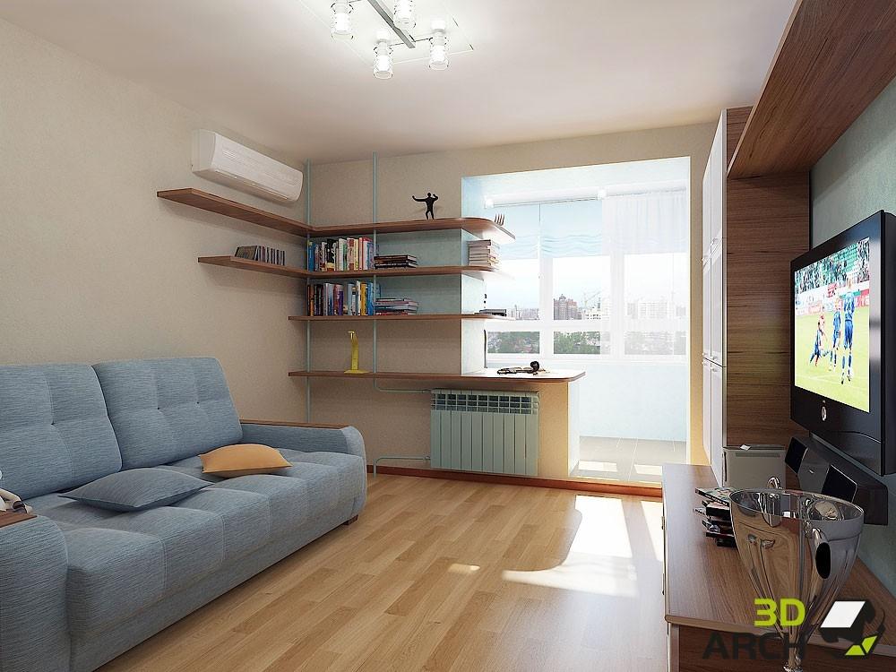 Дизайн комнаты 15 кв м с балконом.