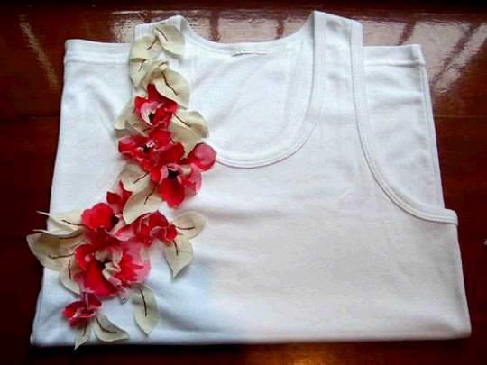Украшения цветами одежду своими руками
