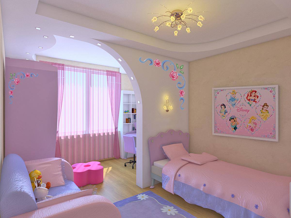 ремонт детских спални дизаин обычной