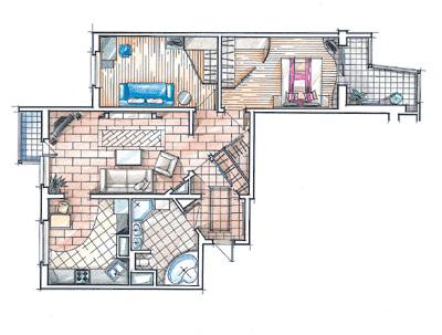 "Дизайн трехкомнатной квартиры п-3 "" картинки и фотографии ди."