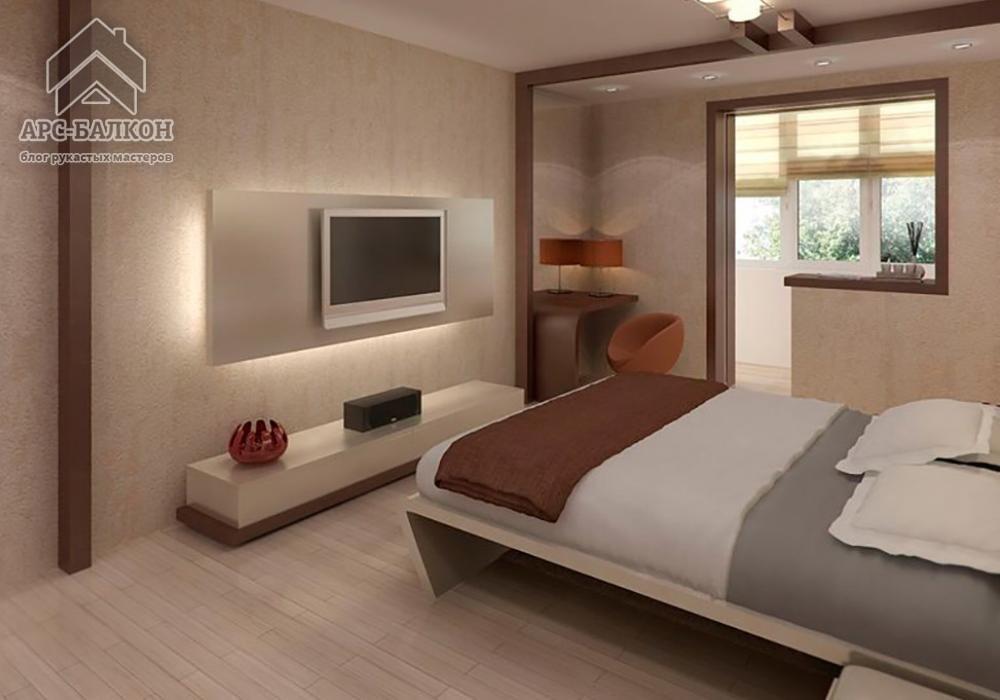дизайн спальни 2016 с балконом картинки и фотографии дизайна