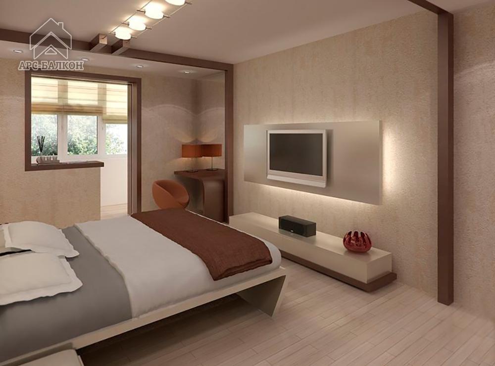 """Дизайн спальни 2016 с балконом """" картинки и фотографии дизай."""