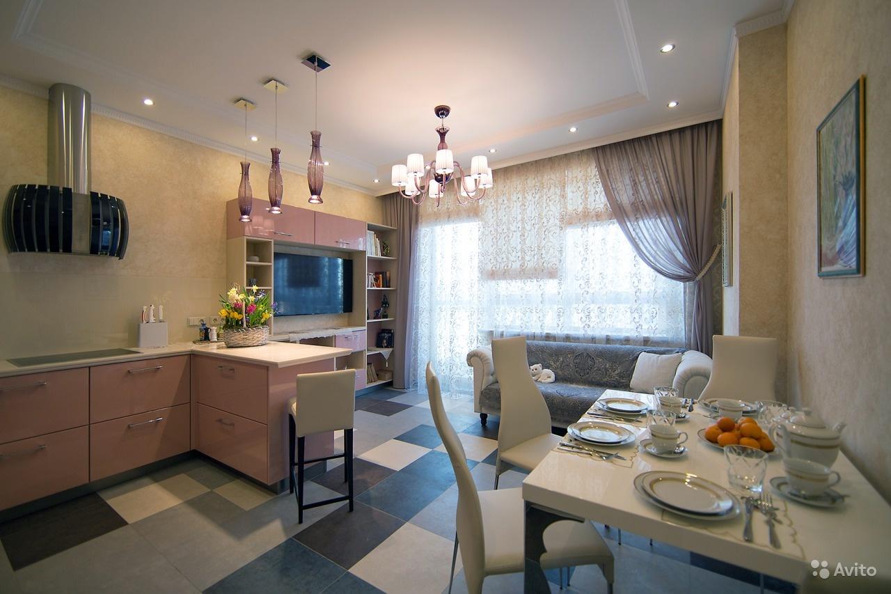 дизайн кухня+гостиная 15 кв.м дизайн фото