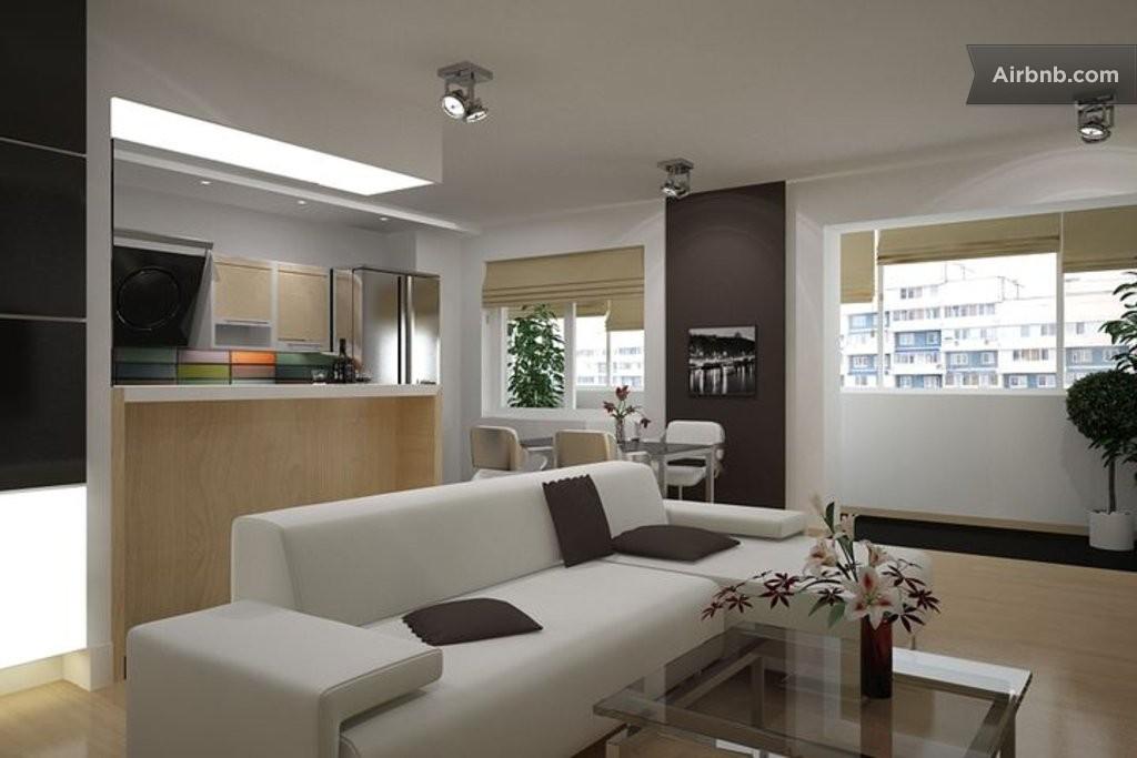 Дизайн комнаты совмещенной с кухней (48 фото), совмещение го.