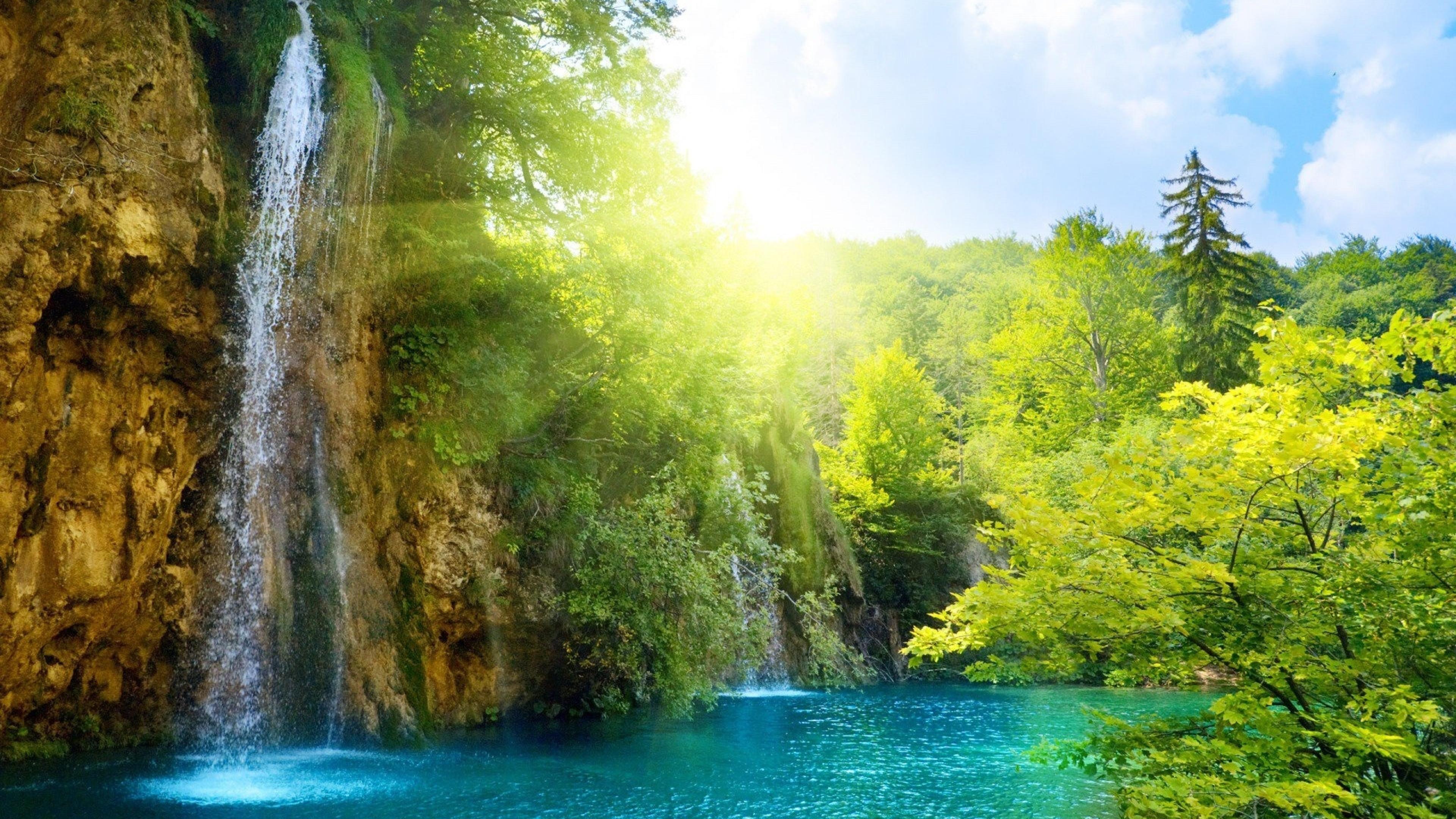 природа озеро водопад онлайн