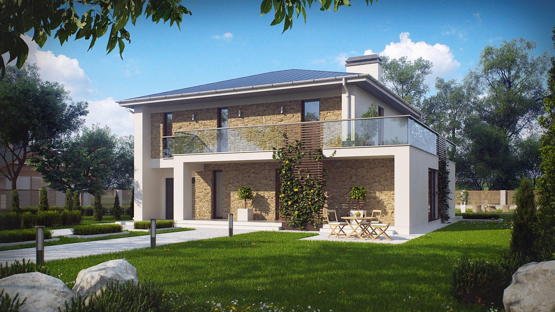 Пятикомнатный двухэтажный дом из газобетона площадью 180,7 к.